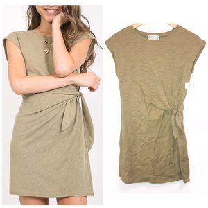 LoveRichie Tie Light Green Tee Shirt Dress- S NWT